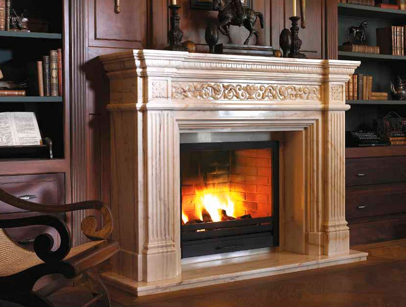 Installation of a classic fireplace 33