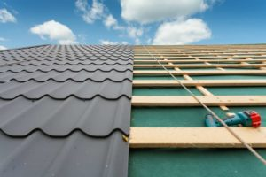 Roof repair: installation of metal roofing